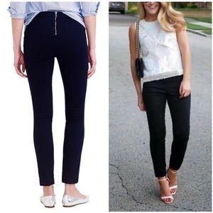 J. crew Dannie skinny ankle crop pants back zip